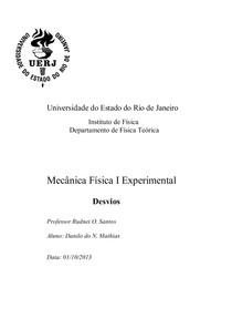 Relatório Desvios  Física I
