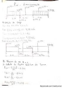 Dimensionamento de viga com 3 tramos por Método de Cross, cargas distribuídas e concentradas juntas, com diagrama