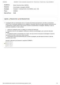 Av II - FLEX - Comunicação e Linguagem