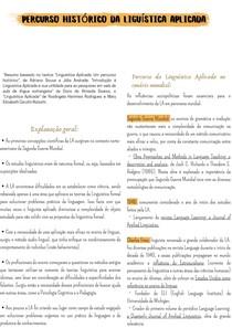 Percurso Histórico da Liguística Aplicada