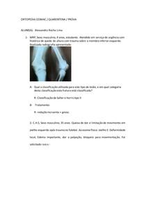 Prova Ortopedia sobre Fraturas