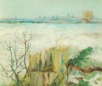 Vincent Willem van Gogh-nevado-paisagem-com-Arles-in-the-Background