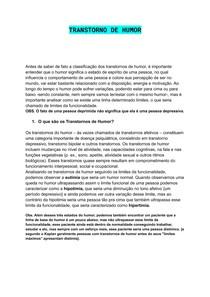 TRANSTORNO DE HUMOR