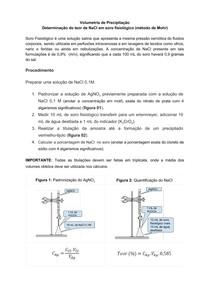 Quantificação de NaCl - Química analítica