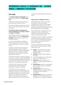 Instrumentos básicos de enfermagem - Destreza manual e habilidades psicomotoras