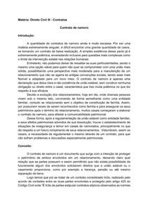 Contrato de Namoro - Direito Civil III