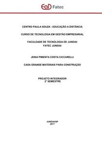 PROJETO INTEGRADOR - CASA GRANDE MATERIAIS PARA CONSTRUCAO