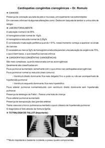Cardiopatias congênitas cianogênicas Cirurgia Cardíaca