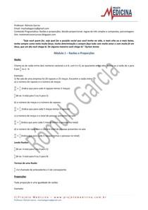 Matemática - Ensino Médio - Lista de Exercícios - matemática básica - razões e proporções - Proj. Medicina - prof. Rômulo Garcia