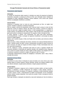Cirurgia Periodontal_ Aumento de Coroa Clínica e Frenectomia Labial
