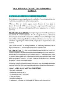 DOENÇAS PULMONARES - NEONATAL