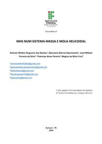Relatório   MHS num sistema massa e mola helicoidal