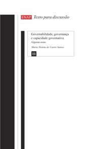 Governabilidade, governança e capacidade governativa