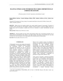 PLANTAS TOXICAS DE INTERESSE PECUARIO