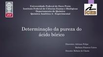 Determinação da pureza do ácido bórico