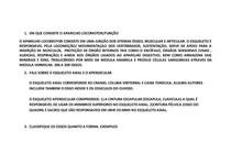 EXERCÍCIOS DE OSSOS E  ARTICULACÕES ANATOMIA DO APARELHO LOCOMOTOR