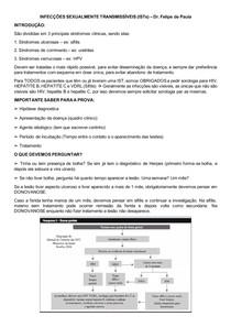 INFECÇÕES SEXUALMENTE TRANSMISSÍVEIS - Dr Felipe de Almeida - Urologia