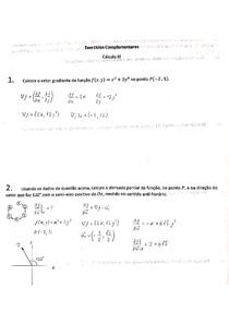 Lista Cálculo III