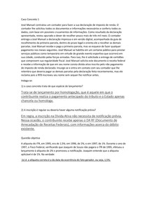 DIREITO TRIBUTÁRIO II - Caso Concreto 1