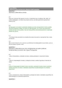 Prova Online portugues