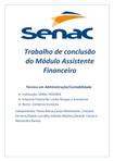 AÇÃO INTEGRADORA   PROJETO INTEGRADOR ASSISTENTE FINANCEIRO SENAC