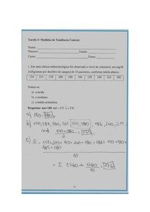 Tarefa 1 Estatística descritiva Engenharia UNIP 2/3° Semestre