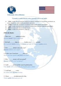 Testando o conhecimento sobre QUANTIFICADORES em inglês - #exclusivopd