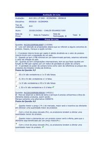 Fundamentos de Economia - (20) - AV2 - 2011.2
