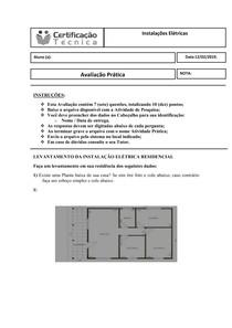 Avaliação Prática   Instalações Elétricas