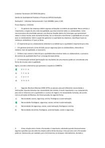 prova 2 gestão da qualidade produtos e processos