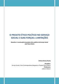 Resenha A construção do projeto ético político do Serviço Social