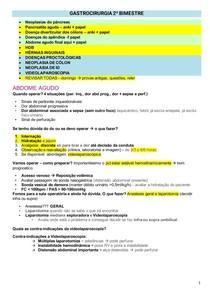 GASTROCIRURGIA 2º BIMESTRE
