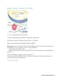 biologia molecular - tradução
