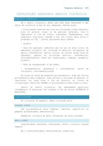 INTRODUÇÃO À ANATOMIA MÉDICO-CIRÚRGICA