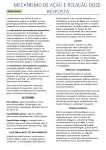 Farmacologia Veterinária - Mecanismo Dose-Resposta
