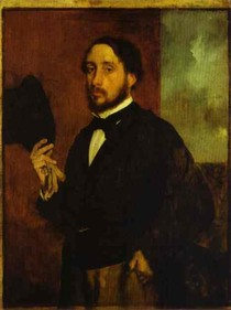 Edgar Degas - Self portrait Dark