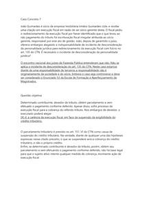 DIREITO TRIBUTÁRIO II - Caso Concreto 7