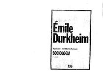 O que é fato social e Solidariedade - DURKHEIM, Émile