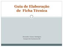 Guia de Elaboração de Ficha Técnica