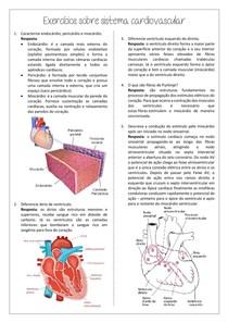 Exercícios com resposta sistema cardiovascular (prova)