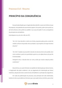Princípio da congruência - Resumo