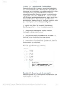 COMPORTAMENTO EMPREENDEDOR APOL 01