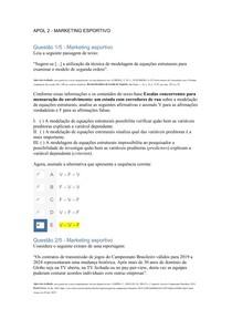 APOL 2 UNINTER Ed. Física - Marketing Esportivo - Nota 100