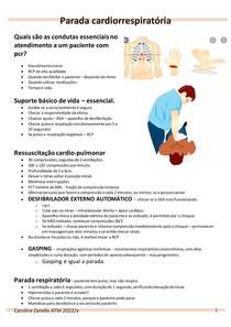 RESUMO - Parada cardiorrespiratória