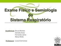 Exame Físico e Semiologia do sistema respiratório
