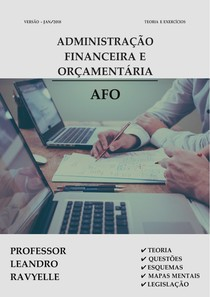 Administração financeira e orçamentaria AFO 2018 Prof Leandro Ravyelle
