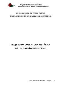Relatório - Projeto de Galpão Metálico