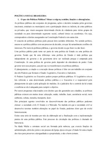 POLÍTICA SOCIAL BRASILEIRA