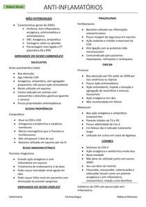 Farmacologia Veterinária - Anti-Inflamatórios