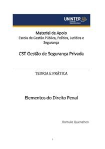 Elementos do Direito Penal - Material para as Avaliações